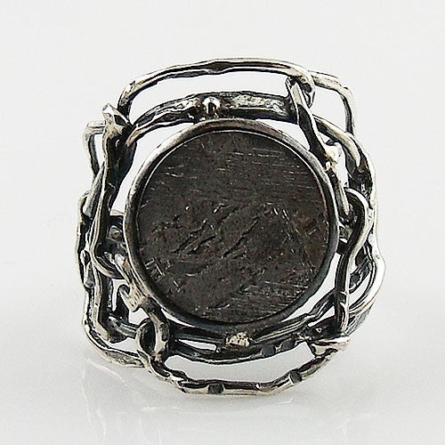 Gibeon Meteorite Industrial Sterling Silver Ring - Keja Designs Jewelry