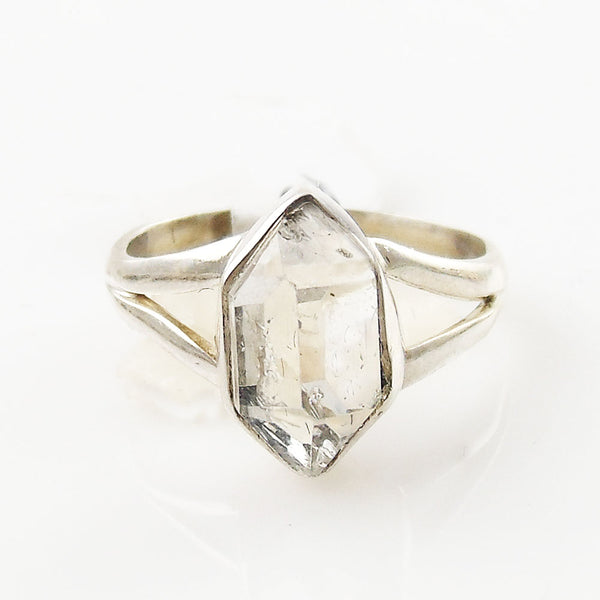 Herkimer Diamond Sterling Silver Solitaire Ring - Keja Designs Jewelry