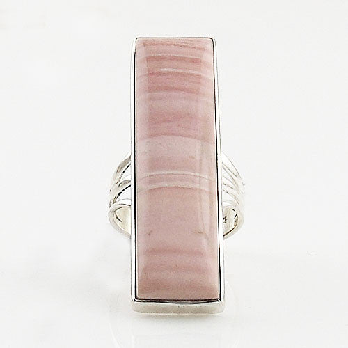 Pink Opal Sterling Silver Oblong Ring - Keja Designs Jewelry