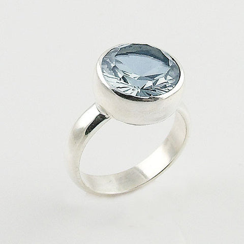 Alexandrite Solitaire Sterling Silver Ring