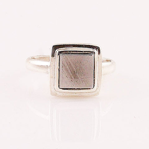 Gibeon Meteorite Sterling Silver Ring - Keja Designs Jewelry