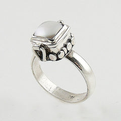 Pearl Sterling Silver Poison Ring - Keja Designs Jewelry