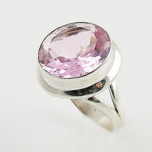 Pink Faceted Quartz Sterling Silver Ring - Keja Designs Jewelry