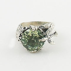 Praisiolite Dove In A Tree Sterling Silver Ring - Keja Designs Jewelry