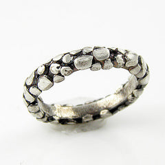 Snake Skin Pure Silver Band Ring - Keja Designs Jewelry
