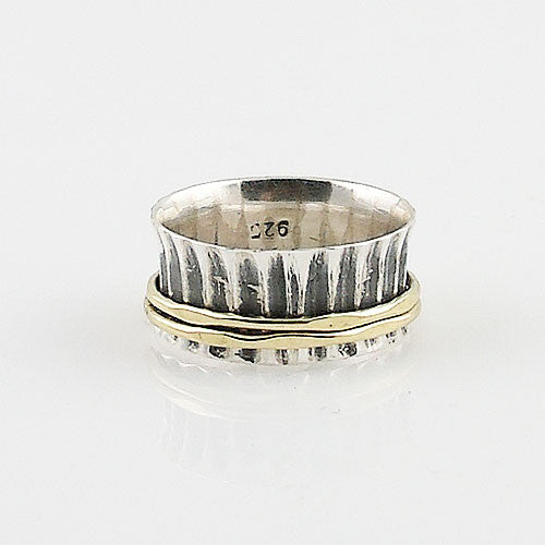 Spinner Ring - Two Tone - Double Spinner - Keja Jewelry - Keja Designs Jewelry