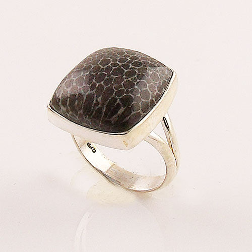 Stingray Coral Sterling Silver Ring - Keja Designs Jewelry