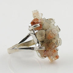 Argonite Star Cluster Sterling Silver Ring - Keja Designs Jewelry