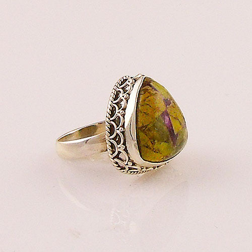 Atlantisite Trillion Sterling Silver Ring - keja jewelry - Keja Designs Jewelry