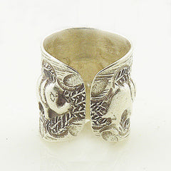 Elephants & Leaves Sterling Silver Animal Wrap Ring - Keja Designs Jewelry