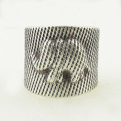 Elephant Sterling Silver Striped Animal Wrap Ring - Keja Designs Jewelry