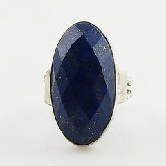 Faceted Lapis Sterling Silver Ring - Keja Designs Jewelry