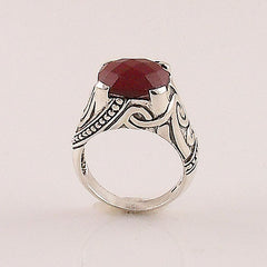 Ruby  Sterling Silver - Queen of Hearts - Ring - Keja Designs Jewelry