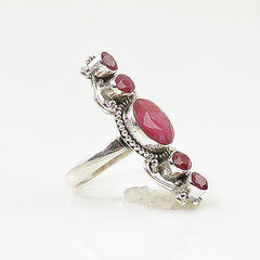 Ruby Sterling Silver Vintage Style Ring - keja jewelry - Keja Designs Jewelry