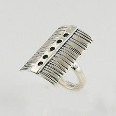 Shield Sterling Silver Artisan Ring - Keja Designs Jewelry