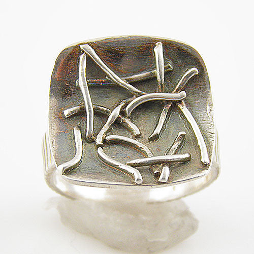 Silly String Pure Silver Artisan Ring - Keja Designs Jewelry
