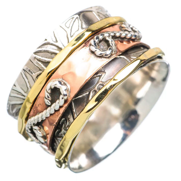 Spinner Ring - Three Tone Infinity Design - Keja Designs Jewelry