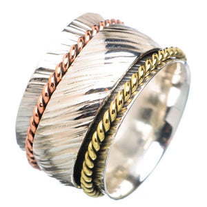 Spinner Ring - Three Tone Domed Spinner - Keja Designs Jewelry