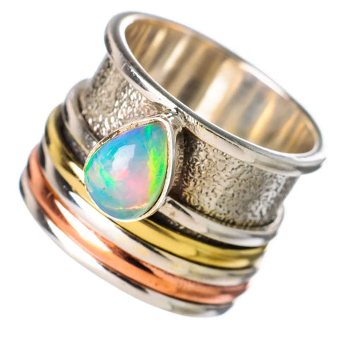 Spinner Ring Ethiopian Opal Three Tone