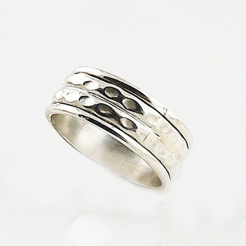 Spinner Ring - Sterling Silver Low Profile - Keja Designs Jewelry