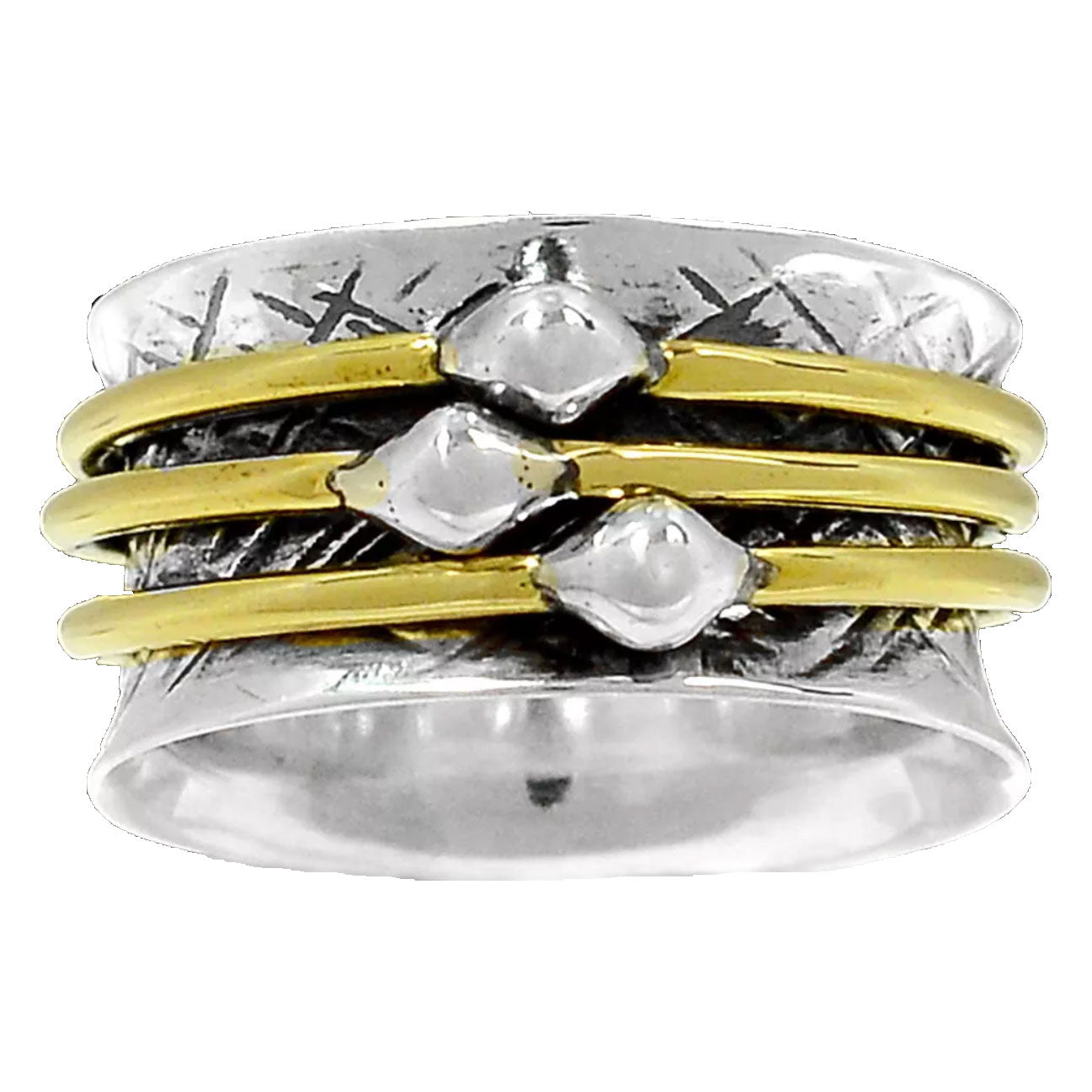 Spinner Ring -  Two Tone Simple Ring - Keja Designs Jewelry