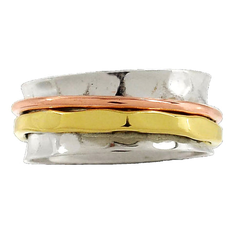 Spinner Ring - Three Tone Low Profile