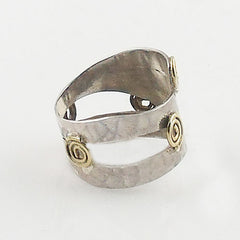 Sterling Silver Two Tone Spiral Ring - Keja Designs Jewelry