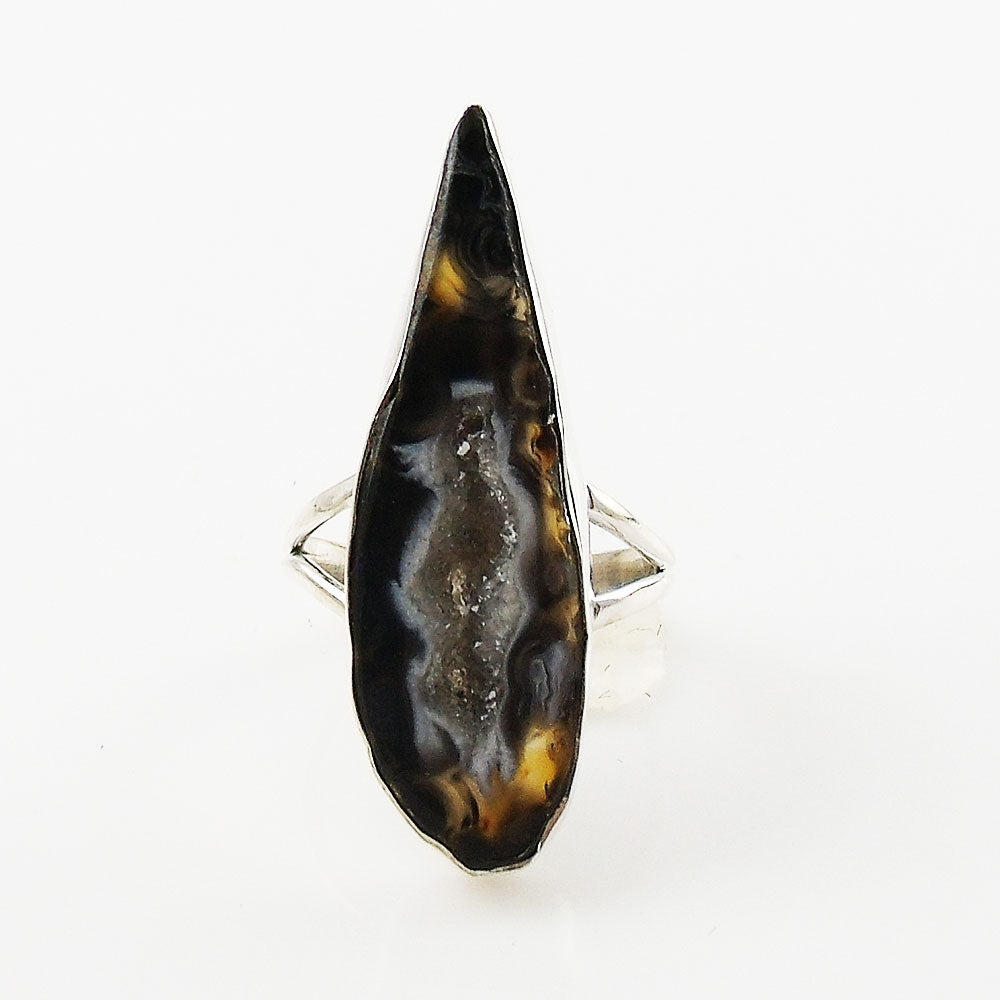 Agate Drusy Geode Sterling Silver Ring - Keja Designs Jewelry