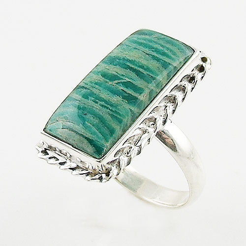 Amazonite Sterling Silver Ring - Keja Designs Jewelry