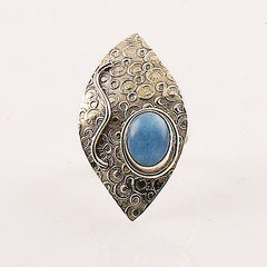 Kyanite Circles Sterling Silver Ring - Keja Designs Jewelry