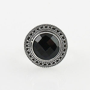 Black Onyx Sterling Silver Ring - Keja Designs Jewelry