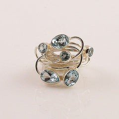 Blue Topaz Sterling Silver Ring - Keja Designs Jewelry