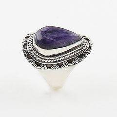 Charoite Sterling Silver Ring - keja jewelry - Keja Designs Jewelry