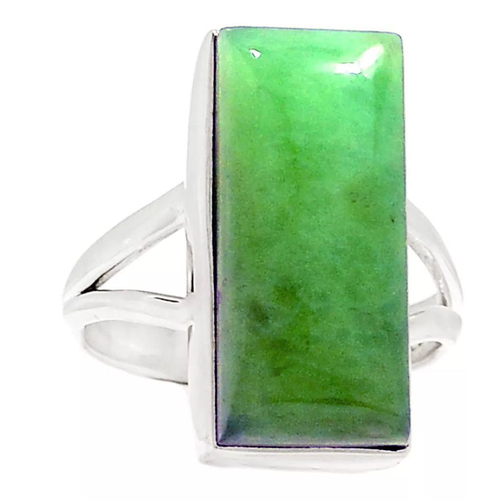Chrysoprase Sterling Silver Ring - Keja Designs Jewelry