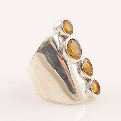 Citrine Sterling Silver Jessica Ring - Keja Designs Jewelry