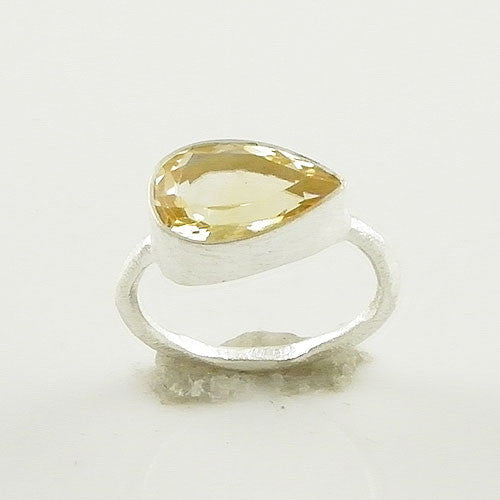 Lemon Quartz Sterling Silver Ring - Keja Designs Jewelry
