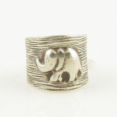 Elephant Sterling Silver Animal Wrap Ring - Keja Designs Jewelry