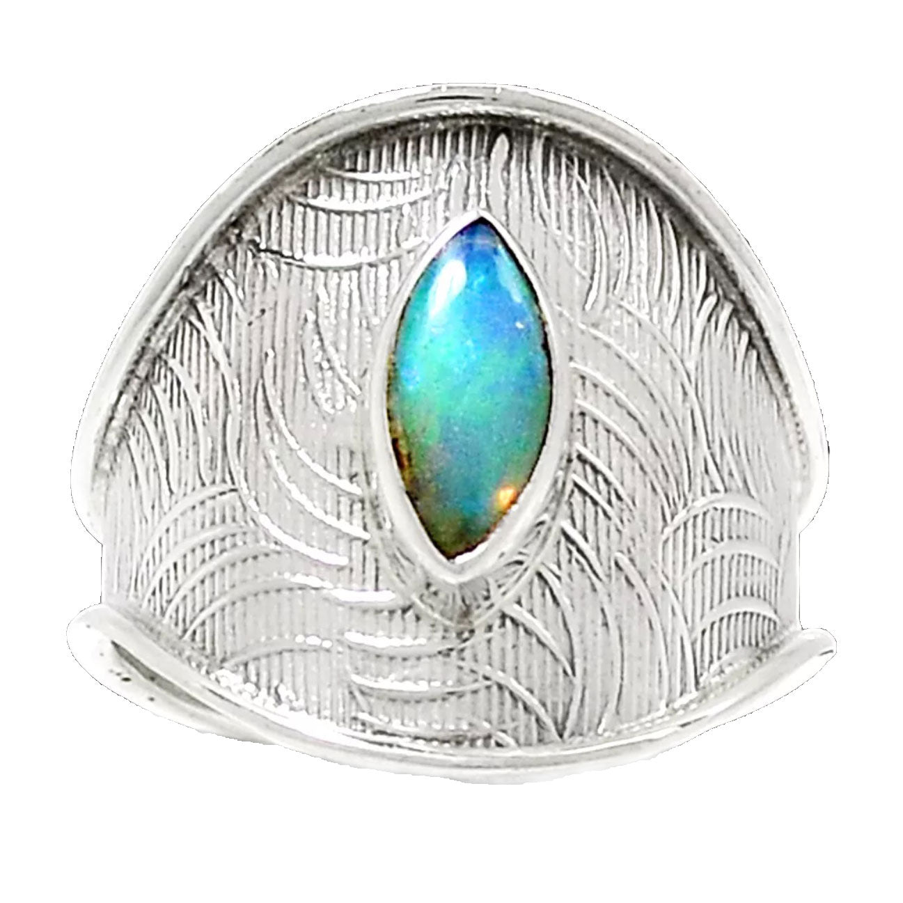 Ethiopian Opal Sterling Silver Adjustable Band Ring - Keja Designs Jewelry