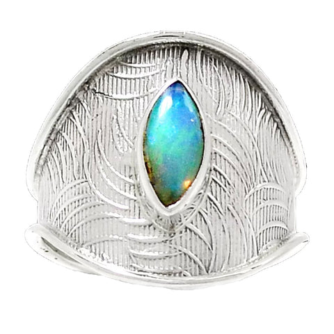 Ethiopian Opal Sterling Silver Adjustable Band Ring