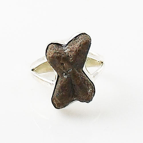 """Fairy Cross"" Staurolite Sterling Silver Ring - Keja Designs Jewelry"