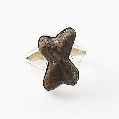 """Fairy Cross"" Staurolite Sterling Silver Ring"