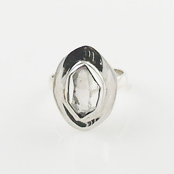 Herkimer Diamond Solitaire Sterling Silver Ring - Keja Designs Jewelry