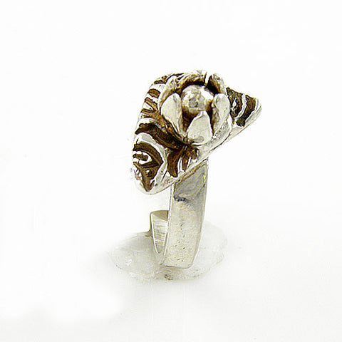Lotus Flower Fine Silver Ring - Keja Designs Jewelry