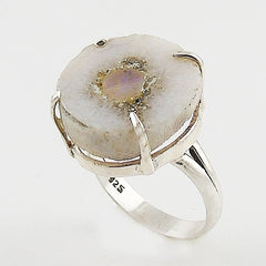 Ethiopian Opal Round Rough Sterling Silver Ring - Keja Designs Jewelry