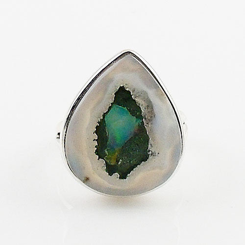 Ethiopian Opal Rough Sterling Silver Ring - Keja Designs Jewelry