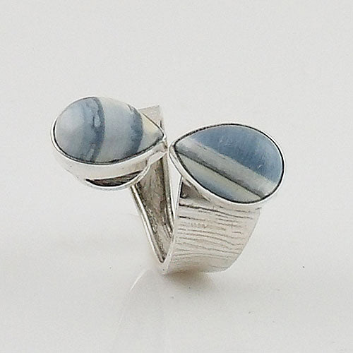 Owyhee Opal Adjustable Sterling Silver Ring - Keja Designs Jewelry