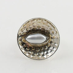 Pearl Two Tone Artisan Crafted Ring - Keja Designs Jewelry