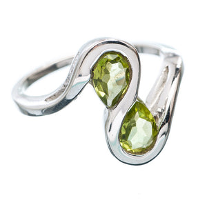 Peridot Sterling Silver Infinity Ring - Keja Designs Jewelry