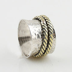 Spinner Ring Two Tone Two Spinners - Keja Designs Jewelry