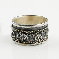 Spinner Ring - Two Tone Spiral Design - Keja Designs Jewelry